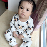 2017 New Spring family matching outfits baby outwear mother and son clothes MW43 terry fabric kids clothing mother dress - EnsoStore
