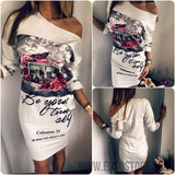 2017 New Summer Dresses Fashion Women Clothing Robe Sexy Cartoon Micky Mous Miki Print ONeck Mini Casual Sheath Dresses Vestidos-Women's Dresses-EnsoStore-8844-S-Enso Store