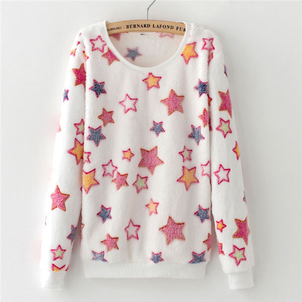 2017 New Women Cute Print Hoodies Spring Autumn Long Sleeve Casual Sweatshirts Moleton Feminine Oversize-Enso Store-13-XL-Enso Store