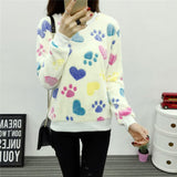 2017 New Women Cute Print Hoodies Spring Autumn Long Sleeve Casual Sweatshirts Moleton Feminine Oversize-Enso Store-5-XL-Enso Store