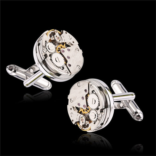 2017 One Pair Of High-end Imports Of Mechanical Watch Movement Tourbillon Cuff links French Cuff links Nail Sleeve Button CJ837-Jewelry Sets & More-Enso Store-Enso Store