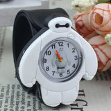 2017 PINBO Children Cute Jelly Cartoon Watch Children Baymax Quartz Watch Casual Patted the Watches Kids Clock Relogio Feminino-Children's Watches-Enso Store-Black-Enso Store