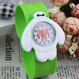 2017 PINBO Children Cute Jelly Cartoon Watch Children Baymax Quartz Watch Casual Patted the Watches Kids Clock Relogio Feminino-Children's Watches-Enso Store-Green-Enso Store