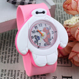 2017 PINBO Children Cute Jelly Cartoon Watch Children Baymax Quartz Watch Casual Patted the Watches Kids Clock Relogio Feminino-Children's Watches-Enso Store-Pink-Enso Store