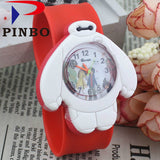 2017 PINBO Children Cute Jelly Cartoon Watch Children Baymax Quartz Watch Casual Patted the Watches Kids Clock Relogio Feminino-Children's Watches-Enso Store-Red-Enso Store