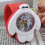 2017 PINBO Children Cute Jelly Cartoon Watch Children Baymax Quartz Watch Casual Patted the Watches Kids Clock Relogio Feminino-Children's Watches-Enso Store-Rose-Enso Store