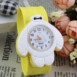 2017 PINBO Children Cute Jelly Cartoon Watch Children Baymax Quartz Watch Casual Patted the Watches Kids Clock Relogio Feminino-Children's Watches-Enso Store-Yellow-Enso Store