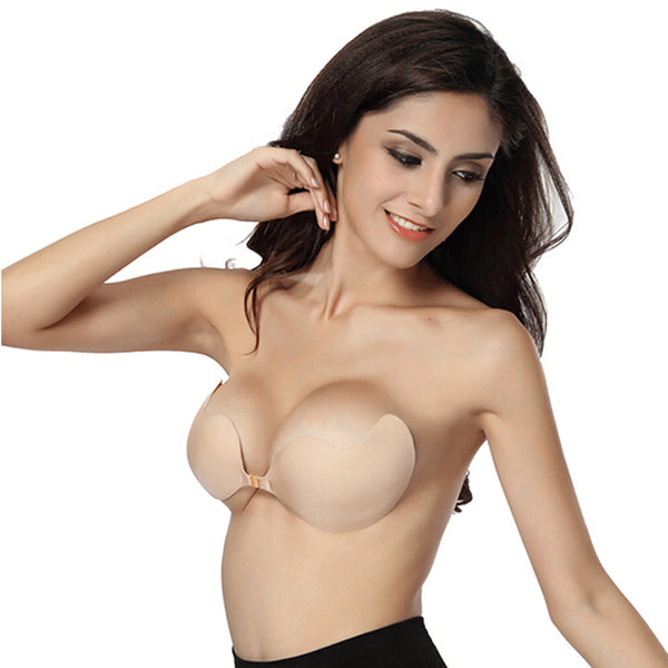 2017 Silicone Push Up bras Strapless Adhesive bra Invisible seamless bra backless-Women's Bras-Enso Store-beige 1-A-Enso Store