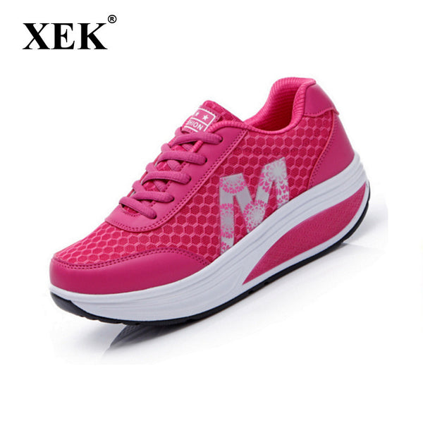 2017 Slimming women running shoes women sneakers Women Platform Fitness Shoes Lady Spring Summmer Fitness shoes #2716-Women's Running Shoes-Enso Store-Red-4.5-Enso Store