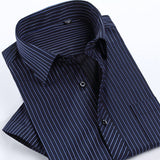 2017 Summer Fashion Men Shirt Short Sleeve Casual Social Male Dress Shirts Male Striped Shirt - EnsoStore
