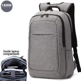 2017 Tigernu Men's Backpacks Anti-thief Mochila for Laptop 14-15 Inch Notebook Computer Bags Men Backpack School Rucksack-Men's Backpacks-Enso Store-Light Grey 3090-China-Enso Store