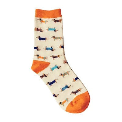 35-43 INNCH Lovely Daily Animal Weel SOCKS Watermelon Dachshund Beagle Lion Farm Bull Terrier Elephant Fox Pill Fruit Guard ZK34 - EnsoStore