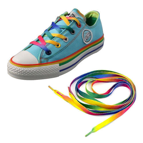 4PC Rainbow Flat Canvas Athletic Shoelace Sport Sneaker Shoe Laces Boots Strings-Shoe Accessories-Enso Store-Enso Store
