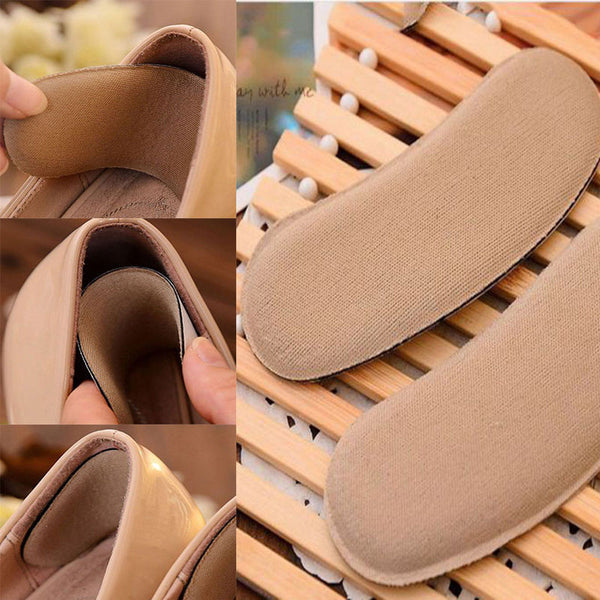 5 Pairs Soft Sticky Fabric Shoe Back Heel Inserts Insoles Pads Cushion Liner - EnsoStore