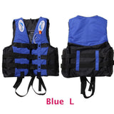 6 Sizes Professional Life Jacket Swimwear Polyester Life Vest Colete Salva-vidas for Water Sports Swimming Drifting Surfing-Swimming-Enso Store-Blue L-Enso Store
