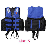 6 Sizes Professional Life Jacket Swimwear Polyester Life Vest Colete Salva-vidas for Water Sports Swimming Drifting Surfing-Swimming-Enso Store-Blue S-Enso Store