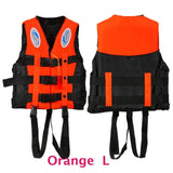 6 Sizes Professional Life Jacket Swimwear Polyester Life Vest Colete Salva-vidas for Water Sports Swimming Drifting Surfing-Swimming-Enso Store-Orange L-Enso Store