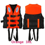 6 Sizes Professional Life Jacket Swimwear Polyester Life Vest Colete Salva-vidas for Water Sports Swimming Drifting Surfing-Swimming-Enso Store-Orange XXXL-Enso Store