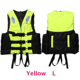 6 Sizes Professional Life Jacket Swimwear Polyester Life Vest Colete Salva-vidas for Water Sports Swimming Drifting Surfing-Swimming-Enso Store-Yellow L-Enso Store
