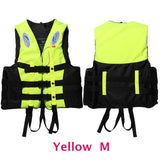 6 Sizes Professional Life Jacket Swimwear Polyester Life Vest Colete Salva-vidas for Water Sports Swimming Drifting Surfing-Swimming-Enso Store-Yellow M-Enso Store