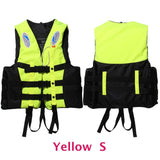6 Sizes Professional Life Jacket Swimwear Polyester Life Vest Colete Salva-vidas for Water Sports Swimming Drifting Surfing-Swimming-Enso Store-Yellow S-Enso Store