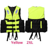 6 Sizes Professional Life Jacket Swimwear Polyester Life Vest Colete Salva-vidas for Water Sports Swimming Drifting Surfing-Swimming-Enso Store-Yellow XXL-Enso Store