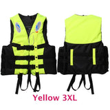 6 Sizes Professional Life Jacket Swimwear Polyester Life Vest Colete Salva-vidas for Water Sports Swimming Drifting Surfing-Swimming-Enso Store-Yellow XXXL-Enso Store
