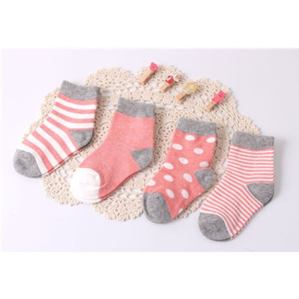 ( 8 pieces/lot=4pair ) 95% cotton baby socks set - EnsoStore