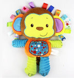 8 Styles Baby Toys Rattles Pacify Doll Plush Baby Rattles Toys Animal Hand Bells Newbron Animal elephant/monkey/lion/rabbit-Baby Toys-Enso Store-As picture 5-Enso Store