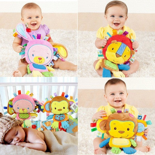 8 Styles Baby Toys Rattles Pacify Doll Plush Baby Rattles Toys Animal Hand Bells Newbron Animal elephant/monkey/lion/rabbit-Baby Toys-Enso Store-As picture-Enso Store