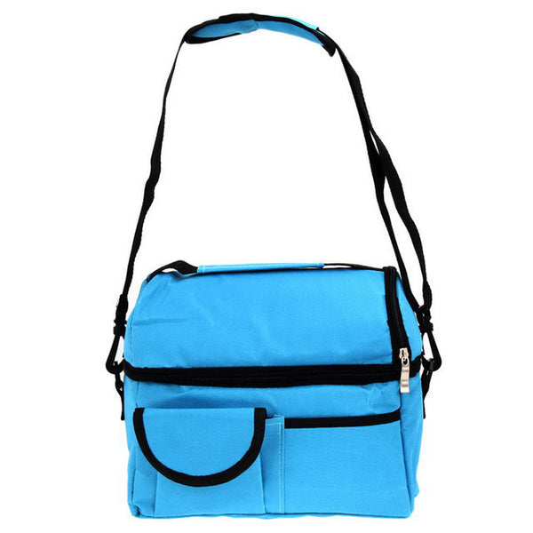 8L Square Thermal Bag Women Men Lunch Bag Cooler Beam Port Lunch Box Lady Handbag Children Kids Lunch Bags Insulation Package-Functional Bags-Enso Store-Sky Blue-Enso Store