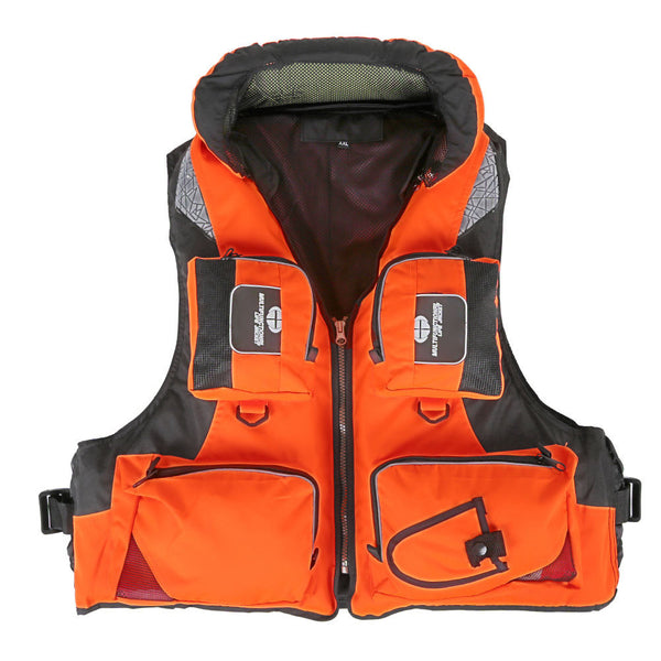 Adult Polyester Swimming Life Jacket Professional Life Vest For Drifting Boating Survival Fishing Safety Jacket Water Sport Wear-Swimming-Enso Store-Blue L-Enso Store