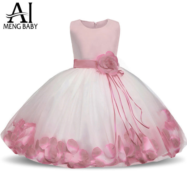 7fac7b6967e6 Ai Meng Baby Flower Baby Girl Christening Gown Baptism Clothes ...