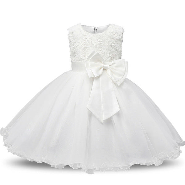 d9cff124425 Ai Meng Baby Flower Princess Girl Dress Wedding First Birthday Newborn Baby  Baptism Clothes Toddler Kids