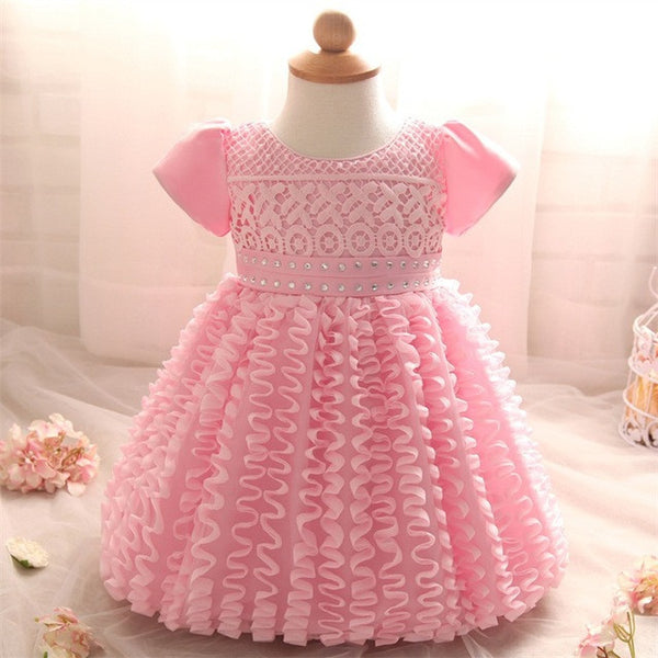 4da6a425b7da6 Ai Meng Baby Newborn Bebes 1 2 Years Little Girl Dress for 1st First Baby  Girl Birthday Outfits Infant Party Dresses For Baptism