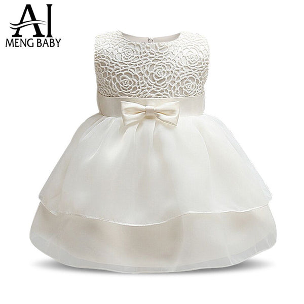 3698c9f107a2 Ai Meng Baby Toddler Girl Baptism Clothes Girl Newborn Infant Lace ...