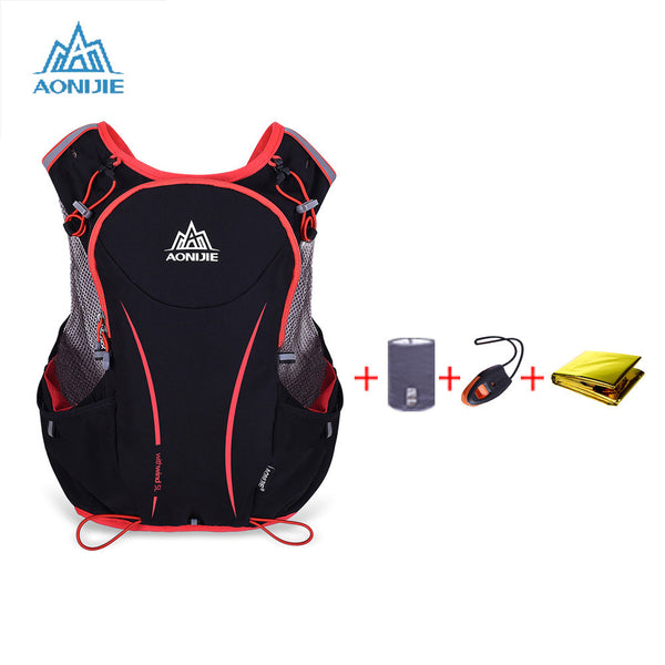 AONIJIE 5L Outdoor Sport Running Vest Backpack Women/Men Hydration Vest Pack for 1.5L Water Bag Cycling Hiking Bag-Sports Clothing-Enso Store-as picture show-XL-Enso Store