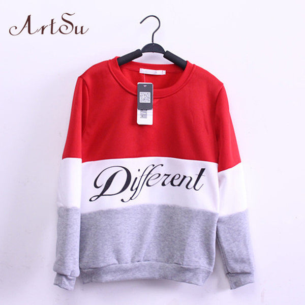 ArtSu 2017 Autumn and winter women fleeve hoodies printed letters Different women's casual sweatshirt hoody sudaderas EPHO80027 - EnsoStore