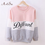 ArtSu 2017 women's casual sweatshirt Autumn and winter women fleeve hoodies printed letters Different hoody sudaderas EPHO80027 - EnsoStore