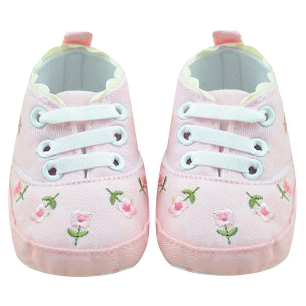 afd08ef06482c Baby Girl Shoes White Lace Embroidered Soft Shoes Prewalker Walking Toddler  Shoes