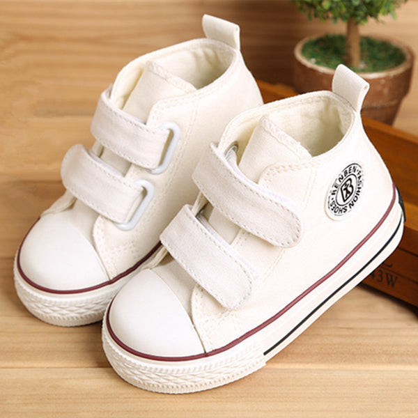 Baby shoes Girl Children Canvas shoes Boys 2017 Spring Autumn Fashion High Cotton-made Baby girl little kids shoes-Baby Shoes-Enso Store-white-5-Enso Store