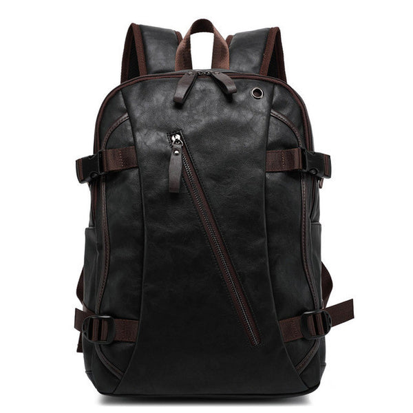 ... BAIJIAWEI Men PU Patent Leather Backpacks Men s Fashion Backpack   Travel  Bags Western College Style Bags ... 052b25ccc2e3f