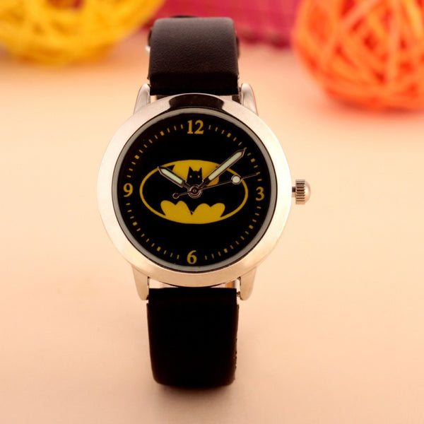 Batman Children Watch Fashion Watches Quartz Wristwatches Waterproof Jelly Kids Clock boys girls Students Wristwatch-Children's Watches-Enso Store-as picture-Enso Store