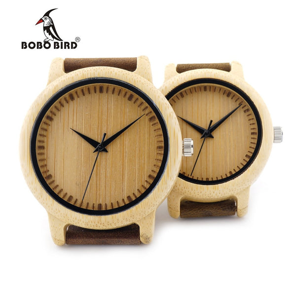 BOBO BIRD A09 Ladies Casual Quartz Watches for Men Natural Bamboo Watch face Women's Brand Lovers Watches in Box-Lover's Watches-Enso Store-Mens-Enso Store