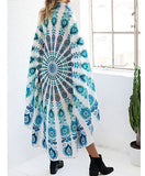 Bohemia style Beach Cover Up Round 150cm Beach Towel Sea Holiday Beach mats Shawl Yoga Mat Sarong Cloak Bathing Suit-Women's Swimwear-Enso Store-square-150cm-Enso Store