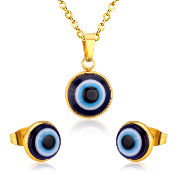 Brand New Eyes Stainless Steel Jewelry Sets,Wholesale Price-Jewelry Sets & More-Enso Store-Gold-Enso Store