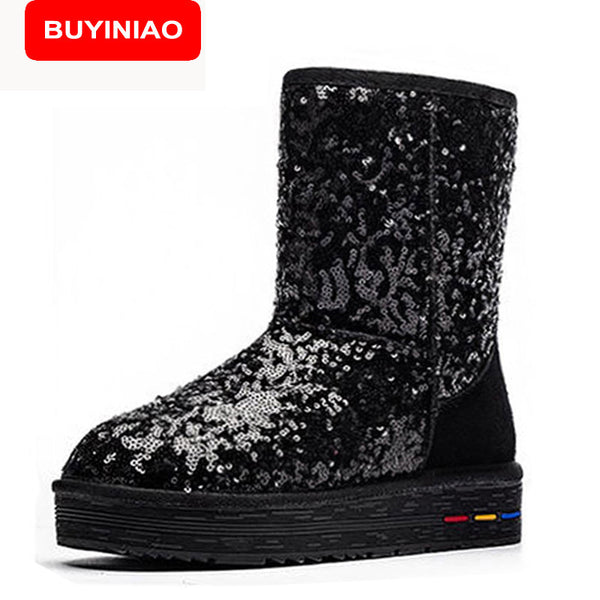 e0165f025722 BUYINIAO Australia Classic Snow Boots Women s Cow Suede Winter Classic boots  5827