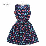 CDJLFH Love peach Women Sexy black brief Print Summer Sleeveless Women vestido Brand Slim Dresses Clothing Beach Dress 2017-Women's Dresses-EnsoStore-11-L-Enso Store