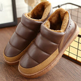 Cheelon Shoe Plus Size 35-44 Women Winter Snow Boots Warm Flat and Waterproof Ankle Boots Platform Home Shoes-Women's Shoes-Enso Store-BD-4-Enso Store