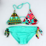 Children clothing Swimwear Baby Girls Kids Cartoon cute Bikini girls split Two Pieces swimsuit Bathing suit Beachwear - EnsoStore